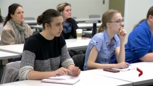Nova Scotia nursing students partake in Naloxone training session