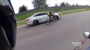 Video of cyclist on Calgary's busy Anderson Road raises concerns