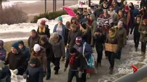'The momentum continues': hundreds attend Saskatoon's 2nd women's march