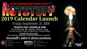Calgary firefighters unveil 2019 Hot Stuff calendar