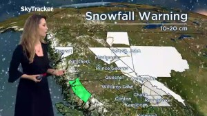 BC weather forecast, Saturday December 29, 2018