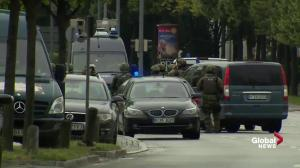 Raw video: police seen in tactical gear following shooting in Germany