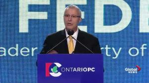 Interim leader Vic Fedeli gives state of address for PC party
