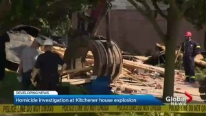 Fire crews use heavy machinery to comb through debris after Kitchener house explosion