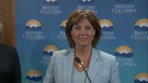 Premier Christy Clark's message to those opposed to Trans Mountain pipeline