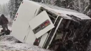 Serious bus crash north of Prince George
