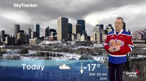 Edmonton morning weather forecast: Sunday, December 30, 2018