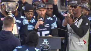 Argos Quarterback Ricky Ray praises 'best team he's ever had'