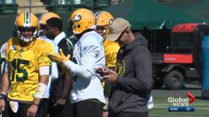 Edmonton Eskimos take part in Day 17 of training camp
