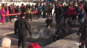 Lake Summerside Polar Plunge for Special Olympics Alberta