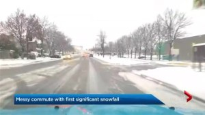 First snow leads to messy commute, dozens of crashes