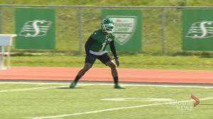 Roughriders veteran Jovon Johnson well versed in training camp survival tactics