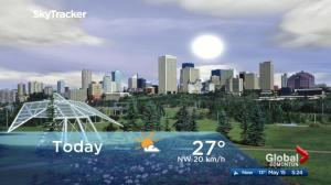 Edmonton early morning weather forecast: Tuesday, May 15, 2018