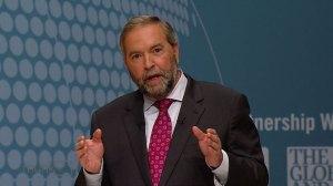 NDP Leader Tom Mulcair talks Bill C-51 during debate