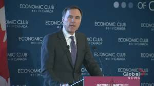 Bill Morneau says Canada expects to sign USMCA deal next week