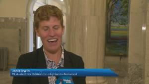 Alberta MLA-elect Janis Irwin wins twice
