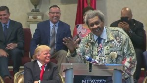 Don King drops the N-word at Trump rally while telling Michael Jackson story