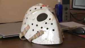 Riverview man holds goalie mask believe to be connected to hockey legend Jacques Plante