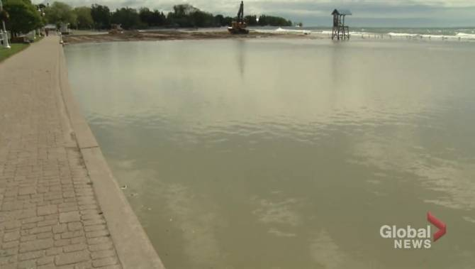 Tourism officials not concerned over flooding at Cobourg's beach