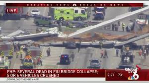 Multiple fatalities confirmed after bridge collapses at Florida International University