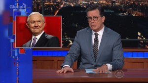 Colbert calls out Jeff Sessions' defense of border policy