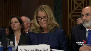 Christine Blasey Ford says '100 per cent' certainty Brett Kavanaugh assaulted her