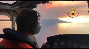 Firefighters begin rescue operation for hikers after Stromboli volcano erupts