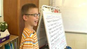 Third grader explains his autism to class in speech
