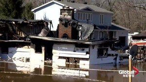 Ottawa home threatened by flood destroyed by fire