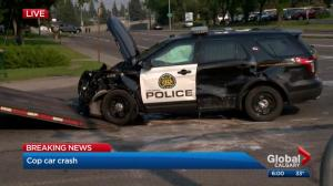 Calgary police cruiser involved in 3-vehicle crash