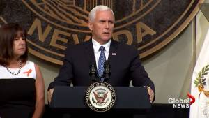 Mike Pence delivers speech in tribute to Las Vegas victims