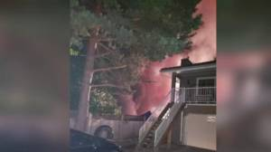 Surrey house fire sends one man to hospital