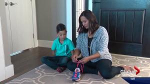 Alberta mother's trick to tying shoelaces goes viral