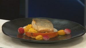 Bauhaus Restaurant's pan fried Arctic char for Dine Out Vancouver 2019 menu