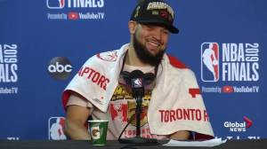 NBA Finals: VanVleet jokes with Lowry about points in Game 6