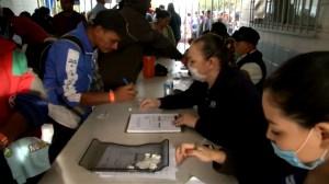 First members of migrant caravan arrives at U.S. border in Mexico
