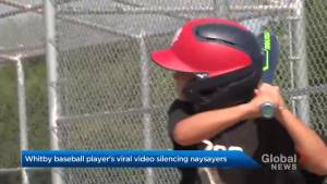 Whitby baseball player's viral video silencing naysayers
