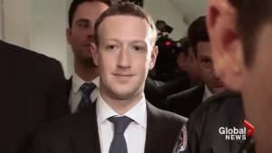 Facebook's Mark Zuckerberg testifies to U.S. lawmakers in wake of privacy scandal