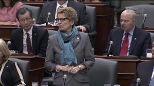 Premier Wynne announces death of Rob Ford in Queen's Park