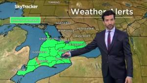 Toronto under a rainfall warning for Sunday evening as massive winter storm pushes north