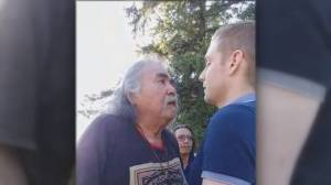 Pipeline supporter says video shows harassment by opponents