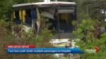 2 dozen sent to hospital after Hwy. 401 bus crash near Prescott
