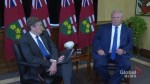 Tory, Ford focus on asylum seekers in first meeting