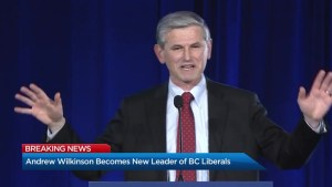 Andrew Wilkinson's victory speech after winning BC Liberal leadership