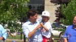 Justin Trudeau greets crowds at PEI strawberry social