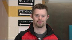 Tyler MacComish living with Down Syndrome makes it for the Ice Stock World Championship