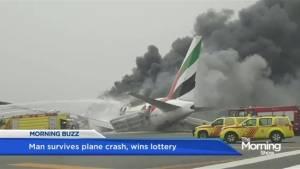 Man wins lottery after surviving plane crash