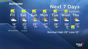 Early morning Edmonton weather forecast: July 19