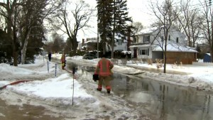 Pointe-Claire water main break flooding streets