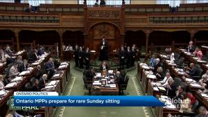 Government memo says Ontario Legislature will sit for rare weekend session